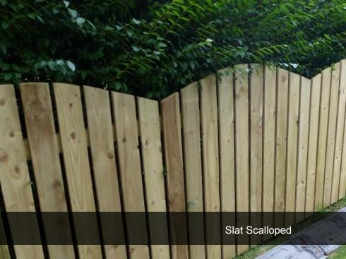 Slat Fence Scalloped